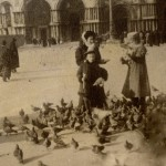 Helena and her children Bohdan and Krystyna in Venice, 1909